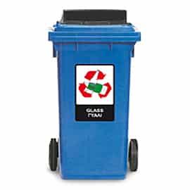 Пластмасов контейнер за отпадъци за рециклиране 240 л