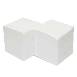 Тоалетна хартия на листи, бяла