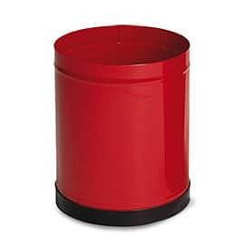 Офис кош– метален, червен