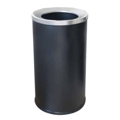 Характеристика: метален, черен.  Размери: диаметър 35 см. височина 73 см. Предлага се и в инокс