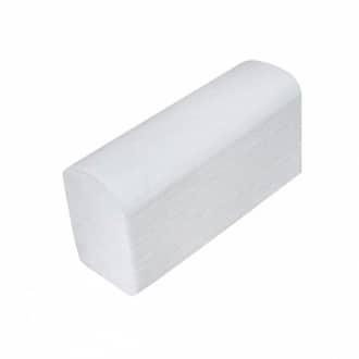 Хартиени кърпи за ръце на листи, бели – сгъвка Z