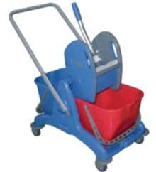 Хигиенна количка, двойна – 2х15 л