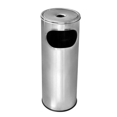 Характеристика: метален, хром. Кръгъл. Размери: диаметър 20,5 см; височина 58 см. Обем 12 л.