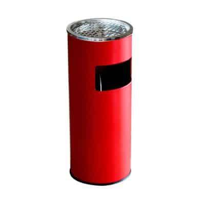 Характеристика: метален, червен. Кръгъл. Размери: диаметър 25 см; височина 60 см. Обем 18 л.