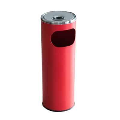 Характеристика: метален, червен. Кръгъл. Размери: диаметър 20,5 см; височина 58 см. Обем 12 л.