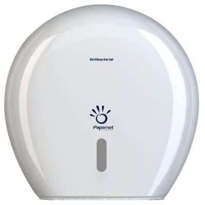 Дозатор за тоалетна хартия гама PAPERNET, пластмасов, бял